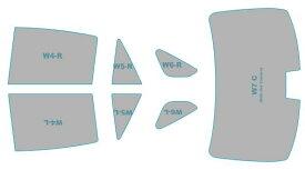 カーフィルム カット済み ウインコス 断熱スモーク トヨタ クラウン ハイブリッド 【AZSH20型/AZSH21型/GWS224型】 年式 H30.6- 車検対応 業務用 スモークフィルム ウインドウ フィルム