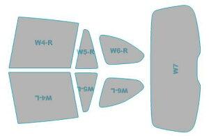 カーフィルム カット済み 断熱スモーク BMW X1 【F48型(AA15/AD20)】 年式 R1.10- 車用品 バイク用品 車用品 アクセサリー 日除け用品 カーフィルム