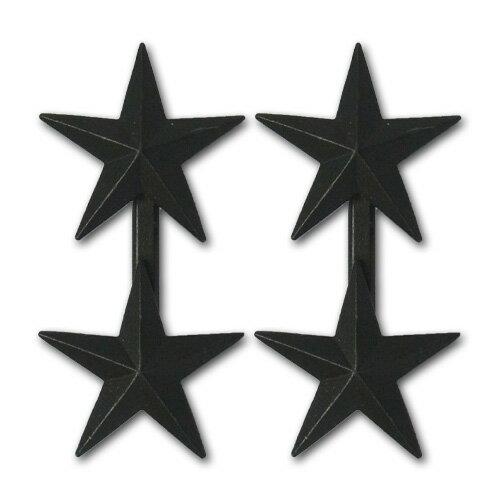 アメリカ軍 階級章 コート章 少将・上級少将(O-8)【ブラックメタル】