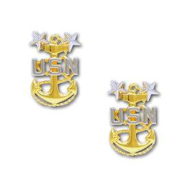 アメリカ海軍 階級章 コート襟章 最上級兵曹長(E-9)
