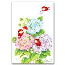 楽天市場 手描き 水彩イラスト 朝岡千恵三 ポストカードと和雑貨の和道楽