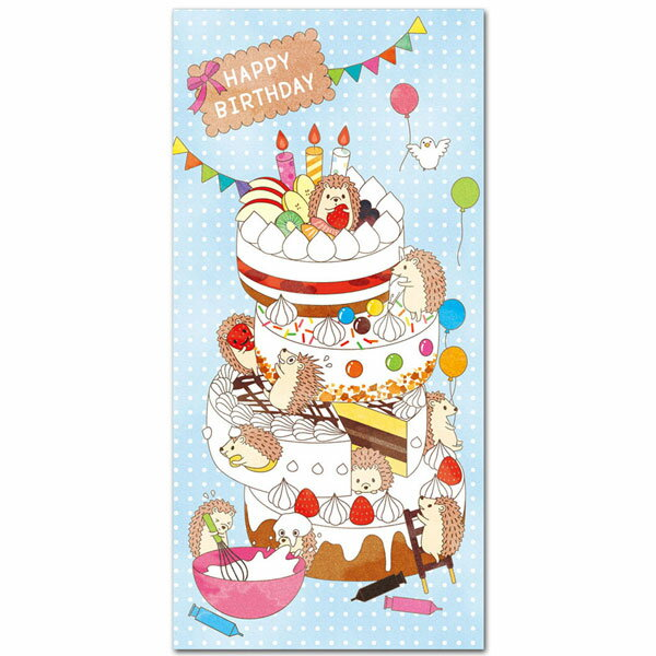 おもしろポチ袋「HAPPY BIRTHDAY」お札サイズ 多目的祝儀袋5枚入り