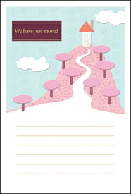 引越はがきポストカード 4枚入(郵便はがき)桜並木 72117