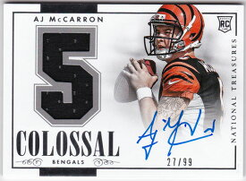 A.J. マカロン 2014 National Treasures Rookie Colossal Number Jersey Auto 27/99 A.J. McCarron