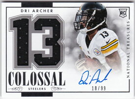 ドリ・アーチャー 2014 National Treasures Rookie Colossal Number Jersey Auto 18/99 Dri Archer