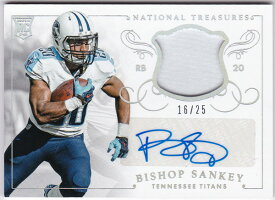 ビショップ・サンキー 2014 National Treasures Rookie Materials Signatures Auto 16/25 Bishop Sankey