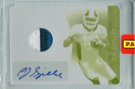 C.J.・スピラー NFLカード C.J. Spiller 2010 Panini Plate and Patches Rookie Patch Autographs Printing Plate 1/1
