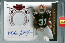 モンタリオ・ハーデスティ NFLカード Montario Hardesty 2010 Panini Plates and Patches Rookie Patch Autographs 634/699
