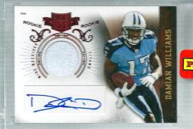 ダミアン・ウィリアムス NFLカード Damian Williams 2010 Panini Plates and Patches Rookie Patch Autographs 690/699