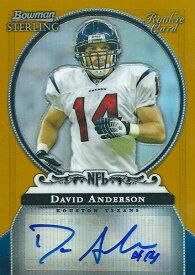 デビット・アンダーソン NFLカード David Anderson 2006 Bowman Sterling Gold Rookie Autographs 495/900
