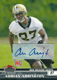 エイドリアン・アリントン NFLカード Adrian Arrington 2008 Stadium Club Rookie Autographs