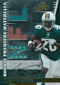 ロレンツォ・ブッカー NFLカード Lorenzo Booker 2007 Absolute Memorabilia Rookie Materials Autographs 015/100