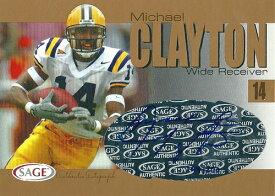 マイケル・クレイトン NFLカード Michael Clayton 2004 Sage Autographs