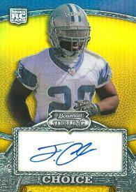 タシャード・チョイス NFLカード Tashard Choice 2008 Bowman Sterling Gold Rookie Autographs 004/400
