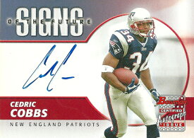 セドリック・コブス NFLカード Cedric Cobbs 2004 Bowman Signs of the Future Autographs