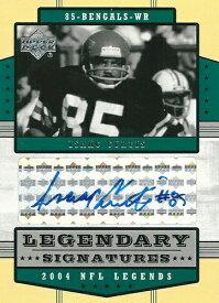 アイザック・カーティス NFLカード Isaac Curtis 2004 Upper Deck Legends Legendary Signatures