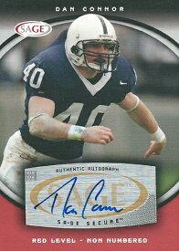 ダン・コナー NFLカード Dan Connor 2008 Sage Autographs