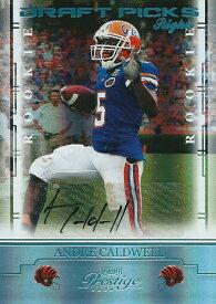アンドレ・コールドウェル NFLカード Andre Caldwell 2008 Playoff Prestige Draft Picks Rights Autographs 032/250