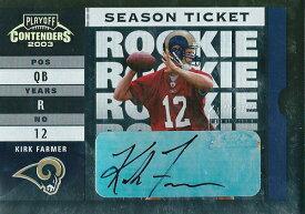カーク・ファーマー NFLカード Kirk Farmer 2003 Playoff Contenders Rookie Autographs
