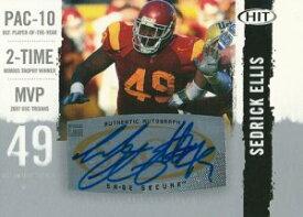 セドリック・エリス NFLカード Sedrick Ellis 2008 Sage Hit Autographs