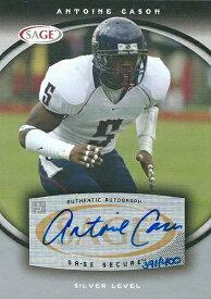 アントワン・ケイソン NFLカード Antoine Cason 2008 Sage Autographs 391/400