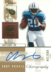 クリス・ヘンリー NFLカード Chris Henry 2007 SP Chirography Rookie Autographs