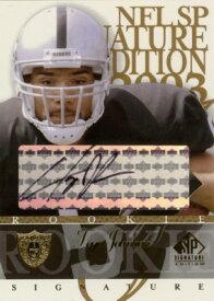 テヨ・ジョンソン Teyo Johnson 2003 SP Signature Autographs Black Ink