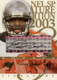 アーニスト・グラハム Earnest Graham 2003 SP Signature Autographs Black Ink