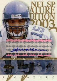 セニカ・ウォーレス Seneca Wallace 2003 SP Signature Autographs Blue Ink