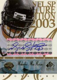 マラウフ—・マッケンジー Malaefou MacKenzie 2003 SP Signature Autographs Blue Ink