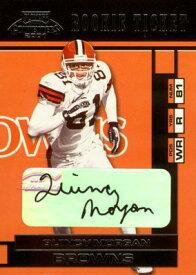 クインシー・モーガン Quincy Morgan 2001 Playoff Contenders Rookie Ticket Autograph