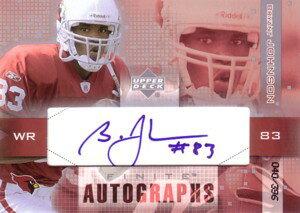 ブライアント・ジョンソン Bryant Johnson 2003 UD Finite Autographs 396枚限定!
