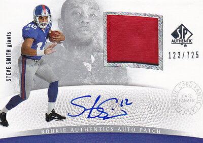 【スティーブ スミス】2007 SP Authentic Rookie Patch Autographs 725枚限定(123/725) (Steve Smith) (直筆サインカード)