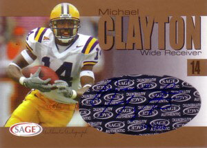 マイケル・クレイトン Michael Clayton 2004 Sage Autographs Gold 200枚限定!