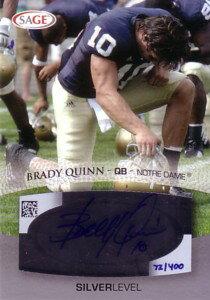 ブレイディ・クイン Brady Quinn 2007 Sage Autograph 400枚限定