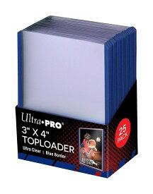 ウルトラプロ(UltraPro) トップローダー (ブルー) 25枚入りパック (#81160) 3x4 Blue Toploader Pack