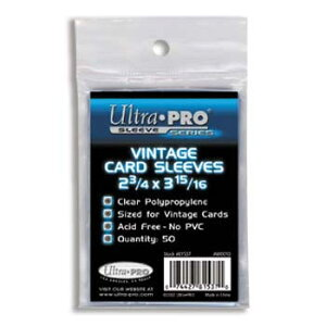 ウルトラプロ(UltraPro) カードスリーブ ヴィンテージサイズ (50枚入) (UP-81537) Vintage Size Card Sleeve