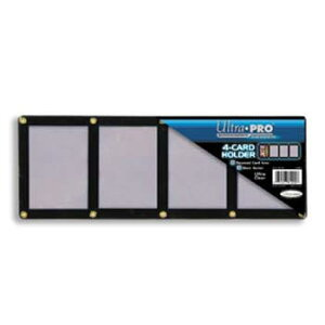 4カード黒枠スクリューダウン (ネジ・タイプ、レギュラー・サイズ用) #81202