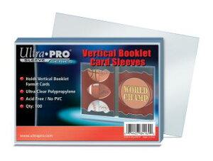 ウルトラプロ(Ultra Pro) カードスリーブ 縦型ブックレットカードサイズ対応 100枚入り #84169   Vertical Booklet Card Sleeves   Vertical Booklet Card Sleeves