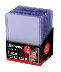 ウルトラプロ(UltraPro) トップローダー 55PT (クリア) 25枚入りパック (#81181) 3x4 Toploader 55PT Pack