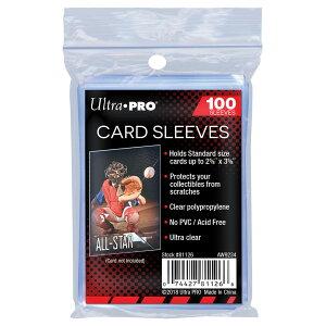 ウルトラプロ(UltraPro) カードスリーブ 通常サイズ用 100枚入り お買い得版 トレーディングカードケース トレ #81126   Soft Card Sleeves Trading card storage cases
