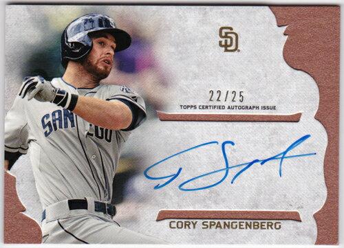 コーリー・スパンジェンバーグ 2015 Topps Supreme Simply Supreme Autographs Orange 22/25 Cory Spangenberg