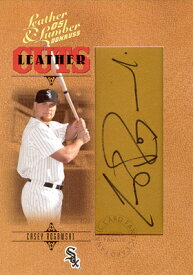 【ケーシー ロゴウスキー】MLB 2005 Donruss Leather & Lumber Signatures Leather Cuts 256枚限定!(229/256)/Casey Rogowski
