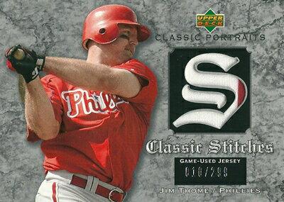 ジム・トーミ MLBカード Jim Thome 2003 UD Classic Portraits Stitches 010/299