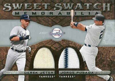 【デレク・ジーター】【ホルヘ・ポサダ】 MLBカード Derek Jeter / Jorge Posada 2009 Sweet Spot Swatches Dual
