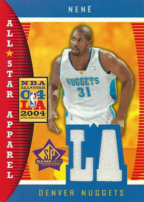 ネネイ Nene 04/05 SP Game Used All Star Apparel