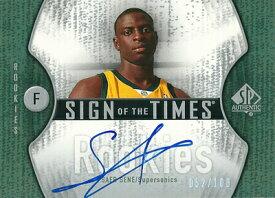 サエル・セネ NBAカード Saer Sene 06/07 SP Authentic Sign of the Times Rookies 052/100