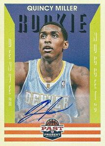クインシー・ミラー NBAカード Quincy Miller 12/13 Panini Past and Present Signatures