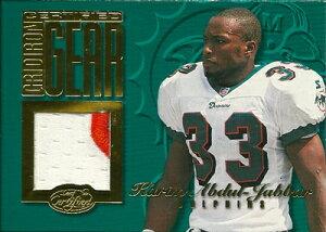カリーム・アブドゥル・ジャバー NFLカード Karim Abdul-Jabbar 1999 Leaf Certified Gridiron Gear 228/300