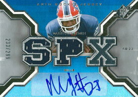 マーション・リンチ NFLカード Marshawn Lynch 2007 SPx Rookie Jersey Autographs 233/299